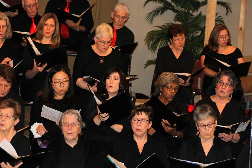 Maple Ridge Chorus members 2018 Christmas concert