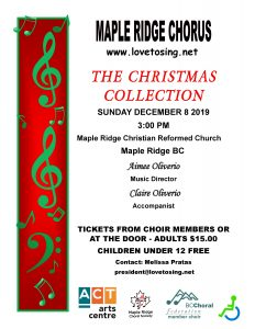 Maple Ridge Chorus 2019 Christmas Poster